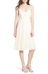 Cupcakes And Cashmere Deena Pleated Dress Ivory