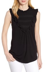 Everleigh Lace Inset Tank Top Black