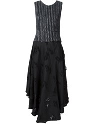 Creatures Of The Wind 'Desmo' Block Print Dress Black