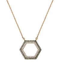 Bee Goddess Brown Diamond Honeycomb Necklace Female