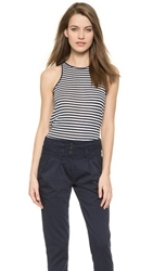 The Lady And The Sailor The Bare Tank Navy Stripe