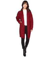 Brigitte Bailey Dagny Cardigan Burgundy Women's Sweater