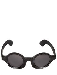 Kuboraum Berlin Burnt Round Frame Sunglasses