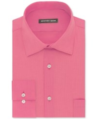 Geoffrey Beene Men's Fitted Wrinkle Free Bedford Cord Dress Shirt Candy