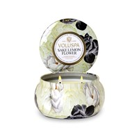 Voluspa Maison Jardin 2 Wick Candle In Tin Sake Lemon Flower