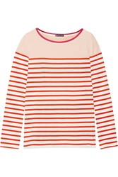 Petit Bateau Striped Cotton Top Orange