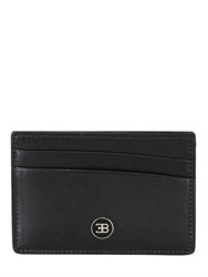 Ettore Bugatti Collection Leather Card Holder With Logo Detail