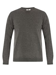 Valentino Crew Neck Cashmere Sweater Grey