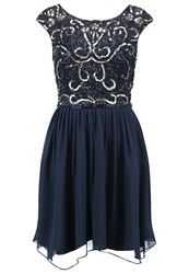 Lace And Beads Grace Cocktail Dress Party Dress Navy Dark Blue