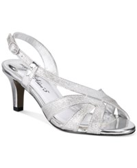 Easy Street Shoes Desi Dress Sandals Women's Silver Glitter