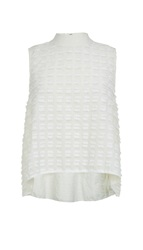 Tibi Fil Coupe Sleeveless Ruffle Top