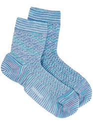 Missoni Short Knitted Socks Blue