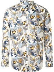 Msgm Printed Shirt Nude And Neutrals