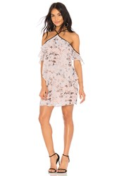 Bcbgeneration Off Shoulder Ruffle Tier Dress Pink