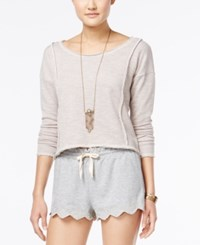 American Rag Open Back Crochet Top Only At Macy's Grey