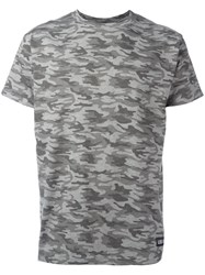 Les Artists Art Ists Camouflage Print T Shirt Grey