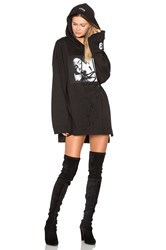 Fenty By Puma Long Sleeve Graphic Lace Up Hoodie Black