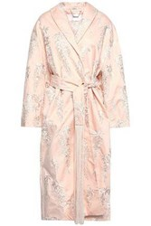 Zimmermann Woman Embroidered Cotton Sateen Coat Pastel Pink