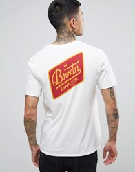 Brixton Bedford T Shirt With Back Print White