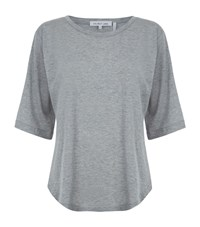 Helmut Lang Wide Neck Half Sleeve T Shirt Female Light Grey