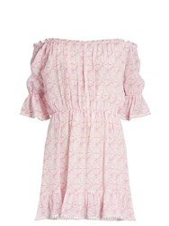 Athena Procopiou Mandrem Silk Dress Pink