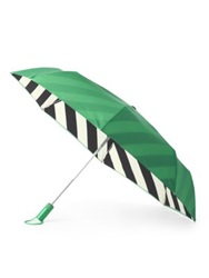 Kate Spade Striped Lining Travel Umbrella