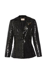 Christopher Kane Sequined Evening Jacket Black