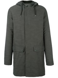 A.P.C. Hooded Raincoat Green
