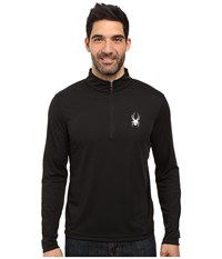 Spyder Silver Drip Dry W.E.B. T Neck Top Black Black Men's Long Sleeve Pullover
