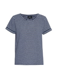 A.P.C. Breton Stripe Short Sleeved T Shirt