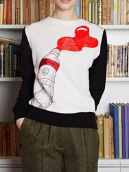 Olympia Le Tan Sweatshirt Oldenburg Embroidered White