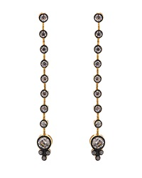Freida Rothman Belargo Long Bezel Set Cz Earrings
