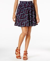 Maison Jules Heart Print Flared Skirt Only At Macy's Navy Stone Combo