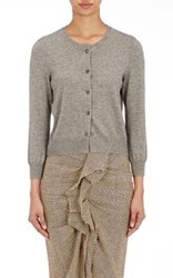 Etoile Isabel Marant Women's Kallie Cotton Wool Crop Cardigan Grey