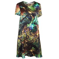 Klements Frieda Shift Dress In Trash Print Gold