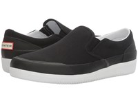 Hunter Original Canvas Plimsoll Black White Women's Shoes