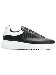 Emporio Armani Embossed Logo Sneakers Black