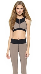 Blue Life Colorblock Bonded Sports Bra Black