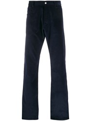 Missoni Corduroy Straight Leg Trousers Blue