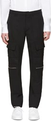 Tim Coppens Black Wool Patch Trousers