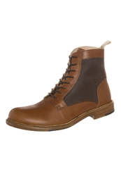 Rokin Roy Laceup Boots Leather Couio Brown