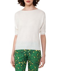 Akris Knit Cotton Pullover Top Off White