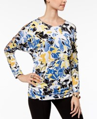 Thalia Sodi Printed Cutout Top Created For Macy's Serena Abstract