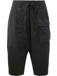 Lost And Found Ria Dunn Drop Crotch Shorts Black