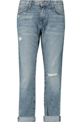 Current Elliott The Fling Distressed Mid Rise Boyfriend Jeans Mid Denim