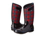 Bogs Classic Winter Plaid Tall Red Multi Women's Shoes Black