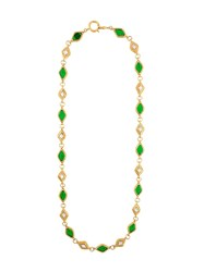 Chanel Vintage Gripoix And Filigree Necklace Green