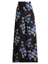 Johanna Ortiz Dream State Printed Silk Crepe Trousers Blue Multi