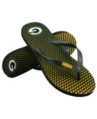 Forever Collectibles Green Bay Packers High End Flip Flops