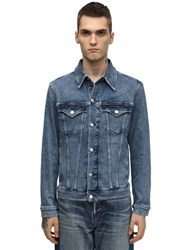 Calvin Klein Jeans Slim Cotton Blend Denim Jacket Blue